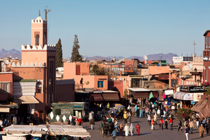 The Medina-Shop-Djemaa el-Fna Squareの写真素材 [FYI04009231]