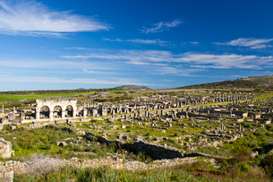 Roman ruins of Voulibilis Cityの写真素材 [FYI04009277]