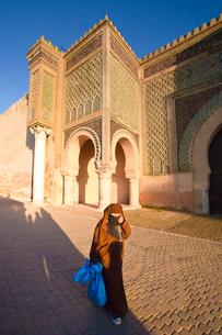 Bab Al Mansour Gate (W.H.)の写真素材 [FYI04009294]