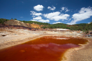 Spain-Spring 2011, Andalucia Region , Rio Tinto Mines, the Rの写真素材 [FYI04009296]