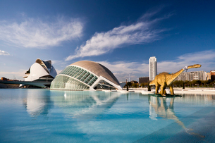 Spain-Valencia City -The City of Arts and Science built by Cの写真素材 [FYI04009304]