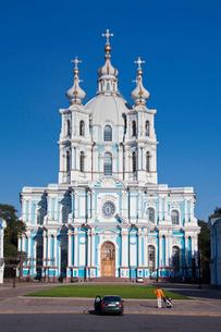 Rusia , San Petersburg City, Smolny Monastery, Churchの写真素材 [FYI04009305]