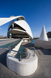 Spain-Valencia City -The City of Arts and Science built by Cの写真素材 [FYI04009306]