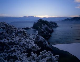 冬の浄土ヶ浜の写真素材 [FYI04009535]
