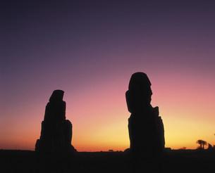 メムノンの巨像の写真素材 [FYI04009656]