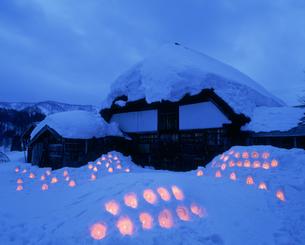 雪あかり祭りの写真素材 [FYI04009677]