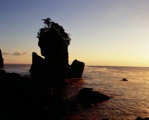 朝霧の三王岩の写真素材 [FYI04009724]