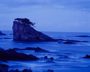 宵闇の茂師海岸の写真素材 [FYI04009725]