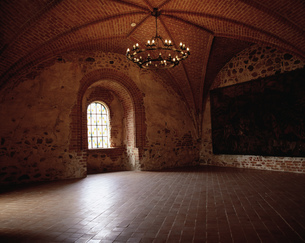 トラカイ城の中の写真素材 [FYI04011001]