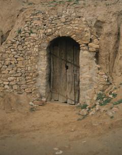 ベルベル人の家入り口の写真素材 [FYI04011041]