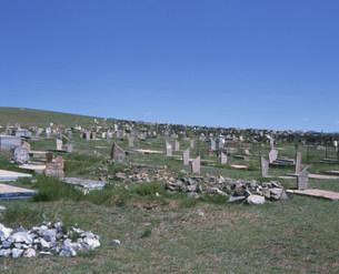 モンゴル人の墓の写真素材 [FYI04011465]