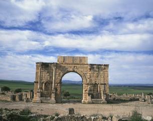 ヴォルビリス遺跡 2月 モロッコの写真素材 [FYI04011576]