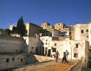 フェズの旧市街地 2月 モロッコの写真素材 [FYI04011579]
