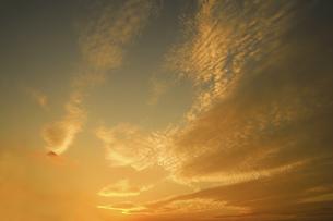 夕焼け雲の写真素材 [FYI04011620]