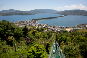天橋立の笠松公園より松並木を望むの写真素材 [FYI04014440]