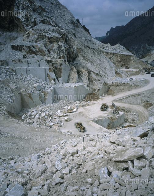 大理石の石切り場の写真素材 [FYI04014487]