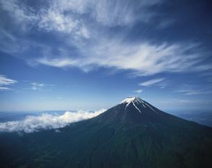 残雪の富士山の写真素材 [FYI04014517]