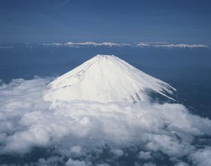 アルプス山系と富士山  静岡県の写真素材 [FYI04014590]