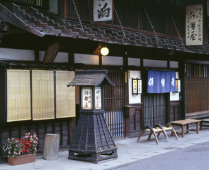中山道の奈良井宿の写真素材 [FYI04014890]