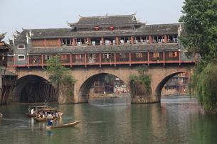 鳳凰古城 虹橋の写真素材 [FYI04016613]