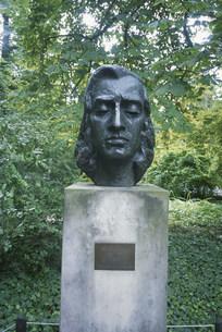 ショパンの顔銅像 生家の写真素材 [FYI04016928]