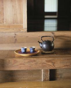 カマチのお茶セットの写真素材 [FYI04016931]