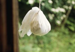 豆腐を布きんに入れて吊すの写真素材 [FYI04016950]