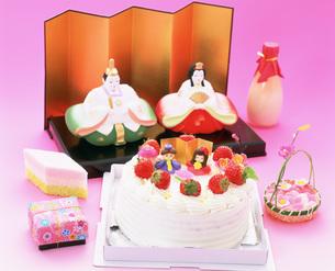 ひな祭りのケーキの写真素材 [FYI04017425]