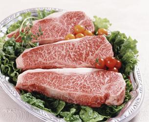 山形牛ステーキ肉の写真素材 [FYI04017562]