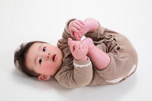 赤ちゃんの写真素材 [FYI04018485]