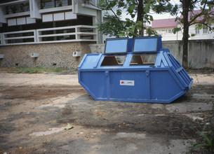 日本が提供したゴミ収集用容器の写真素材 [FYI04018974]