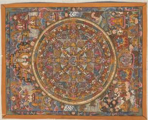 チベット仏教曼陀羅の写真素材 [FYI04019014]