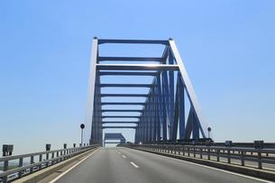東京ゲートブリッジ走行中の写真素材 [FYI04019274]