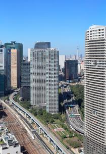 貿易センター展望台から見る新橋方面の景観の写真素材 [FYI04019279]