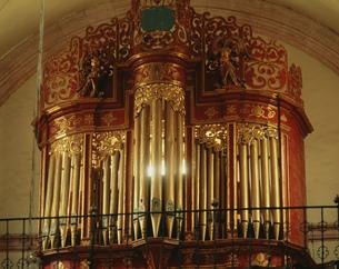 聖ドミンゴ教会のパイプオルガンの写真素材 [FYI04019387]