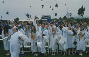 高校の卒業式の写真素材 [FYI04019453]