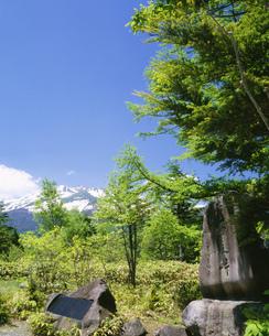 野麦峠と乗鞍岳の写真素材 [FYI04020923]
