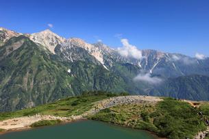 八方池と白馬三山の写真素材 [FYI04021085]