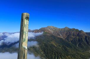 焼岳より望む穂高連峰の写真素材 [FYI04021444]