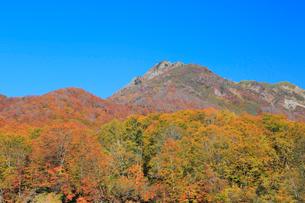 紅葉と雨飾山の写真素材 [FYI04021463]