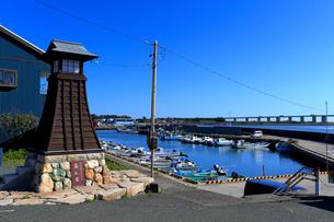 舞阪漁港と浜名湖の写真素材 [FYI04022387]