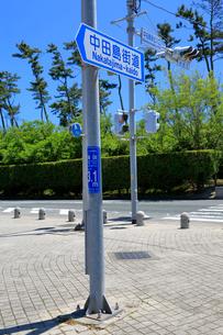 海抜表示の標識の写真素材 [FYI04022431]