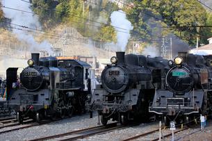 大井川鐡道の蒸気機関車の写真素材 [FYI04022439]
