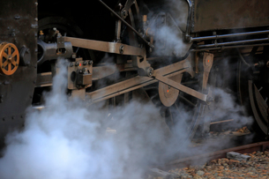 大井川鐡道の蒸気機関車の写真素材 [FYI04022441]