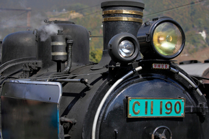 大井川鐡道の蒸気機関車の写真素材 [FYI04022442]