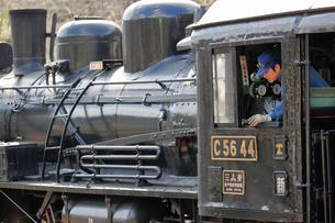 大井川鐡道の蒸気機関車の写真素材 [FYI04022445]