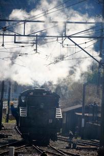 大井川鐡道の蒸気機関車の写真素材 [FYI04022447]