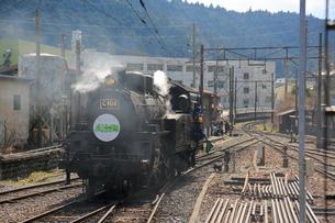 大井川鐡道の蒸気機関車の写真素材 [FYI04022487]