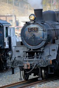 大井川鐡道の蒸気機関車の写真素材 [FYI04022490]