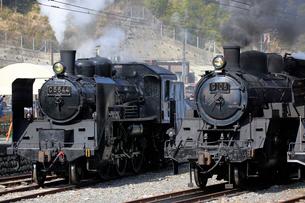 大井川鐡道の蒸気機関車の写真素材 [FYI04022491]